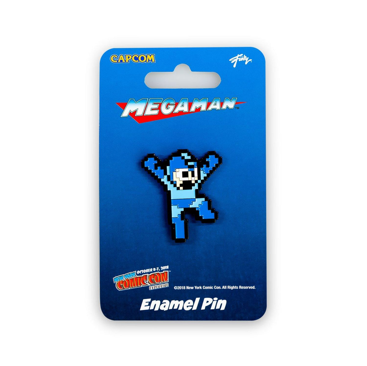 "Mega Man Hero Pin | Just Funky Exclusive Mega Man Collectible Pin | 1.5"" Tall"
