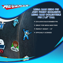 "Load image into Gallery viewer, Mega Man Hero Pin | Just Funky Exclusive Mega Man Collectible Pin | 1.5"" Tall"