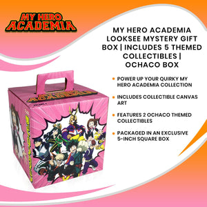 My Hero Academia LookSee Mystery Gift Box | Includes 5 Themed Collectibles | Ochaco Box