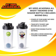 Load image into Gallery viewer, My Hero Academia All Might Training Gym Shaker Bottle | Includes Mixing Ball