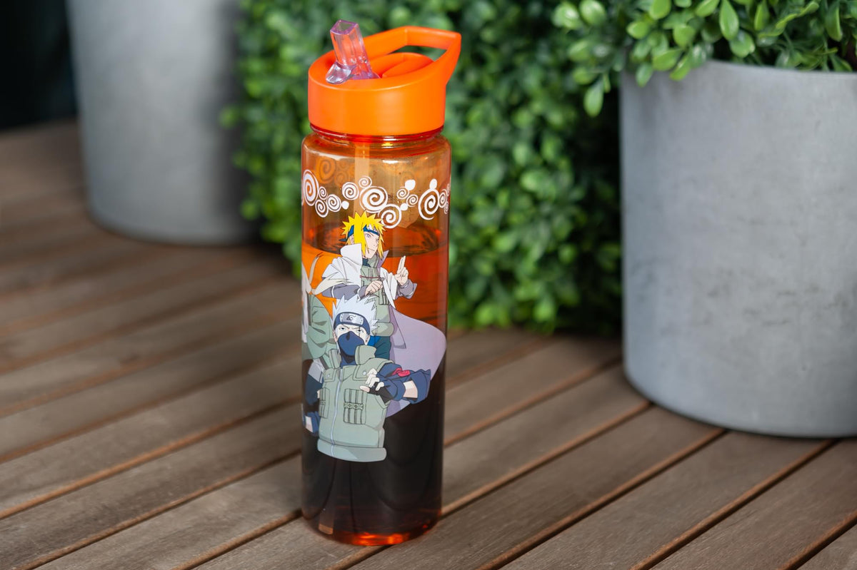 Naruto Shippuden Hokage Heroes Large Plastic Water Bottle | Holds 26 Ounces