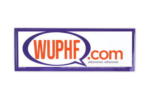 The Office WUPHF.com Sticker | 8.25x2.75 Inch