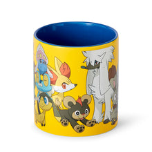 Load image into Gallery viewer, Pokémon XY Series Large Pokémon Group Foil Print Coffee Mug | Holds 20 Ounces
