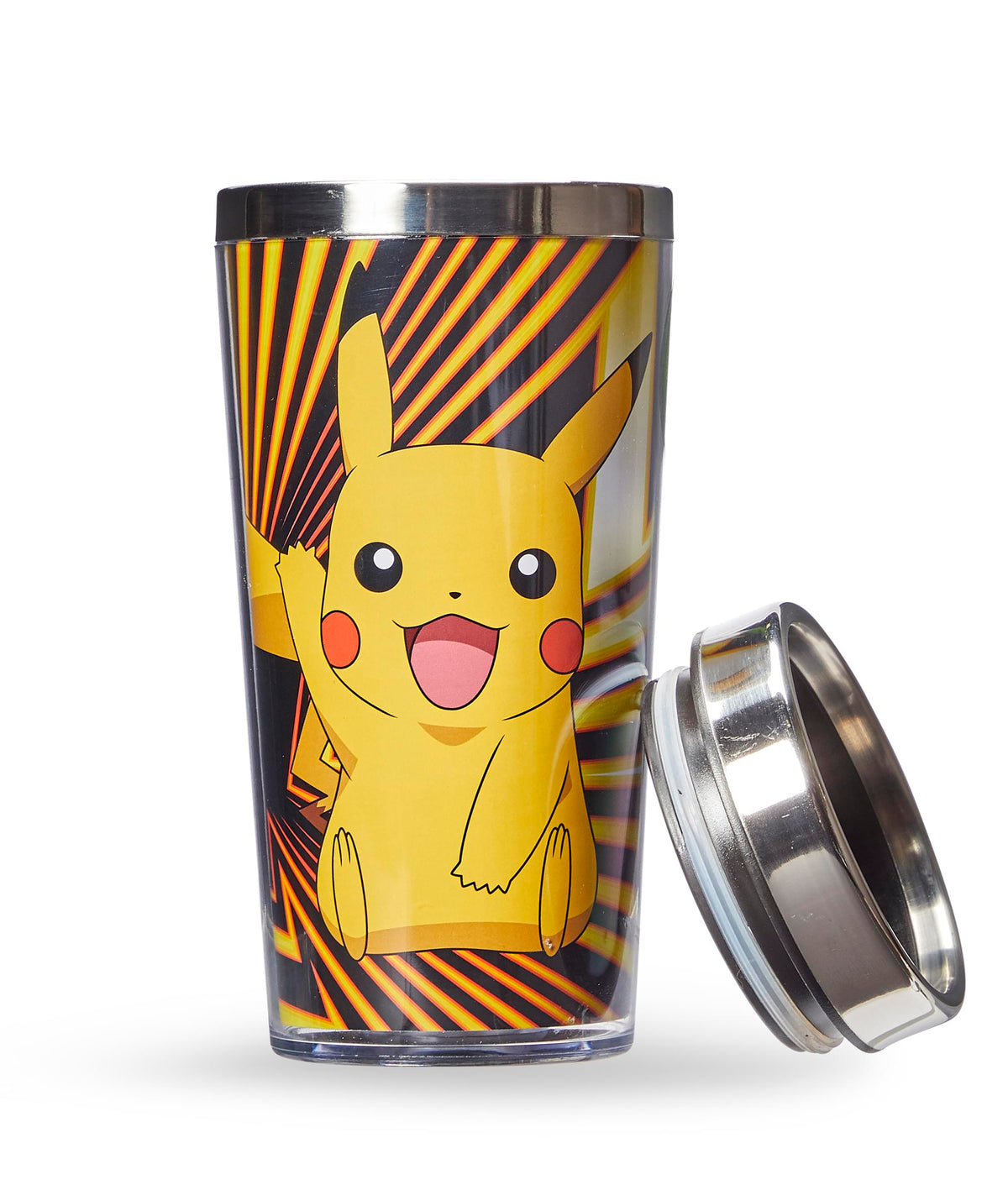 Pokemon Pikachu Travel Mug - 16oz BPA-Free Car Tumbler with Spill-Proof Lid