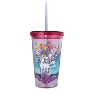 Sailor Moon Pegasus Diamond Bottom 16oz Carnival Cup w/ Straw & Lid
