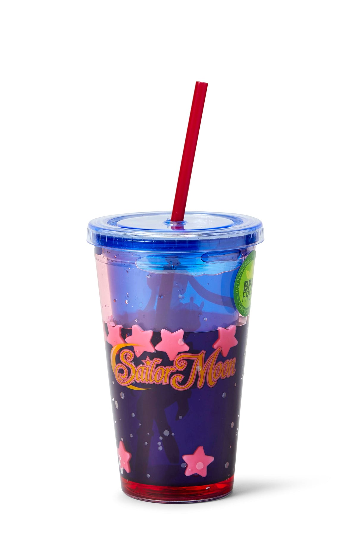 Sailor Moon Confetti Plastic Tumbler Cup With Lid & Straw | Holds 16 Ounces