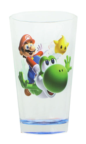 Super Mario Galaxy Mario and Yoshi Pint Glass