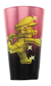 Super Mario Bros. Gold Mario Metal Plated Pint Glass