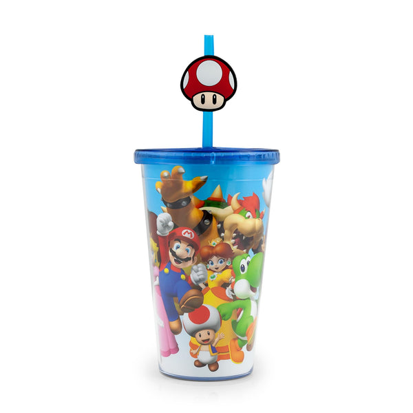 Super Mario Bros.16oz Travel Cup with Straw (Toynk Exclusive)