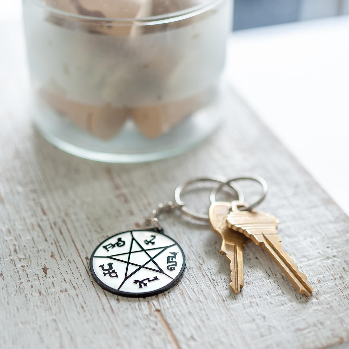 Supernatural Devil's Trap Soft Enamel/Metal Key Chain