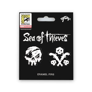Sea of Thieves Skull & Gun Pins | Exclusive Just Funky Collector Pins | Set of 2