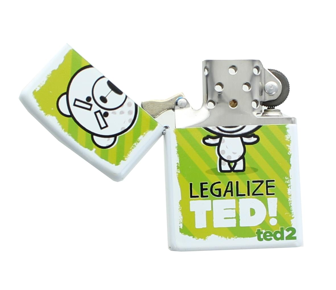 Ted 2 Legalize Ted! Metal Torch Lighter