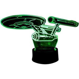Star Trek Enterprise 3D Acrylic Led Lamp