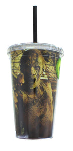 The Walking Dead Zombies 16oz Carnival Cup w/ Straw & Lid