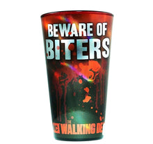 Load image into Gallery viewer, The Walking Dead Beware of Biters Pint Glass