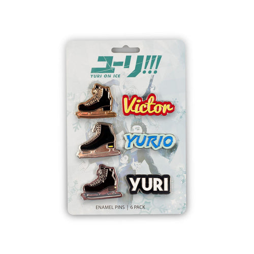 Yuri On Ice Collectible Enamel Pin Set| 6 Pack Collector's Edition