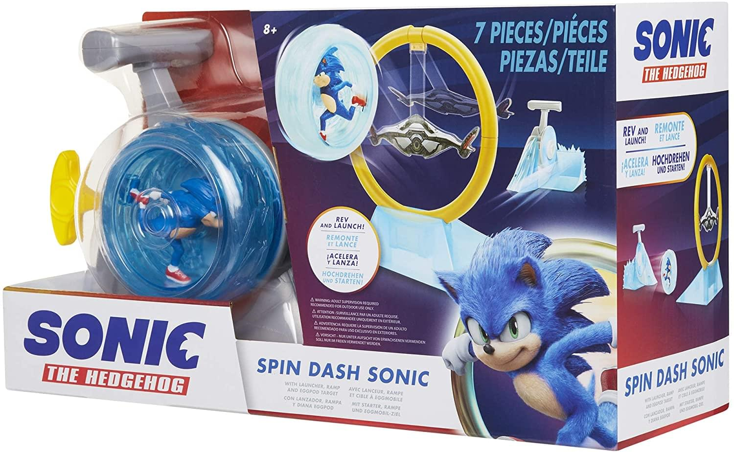 Sonic The Hedgehog Spin Dash Sonic Rev And Launch Toy Toynk Toys
