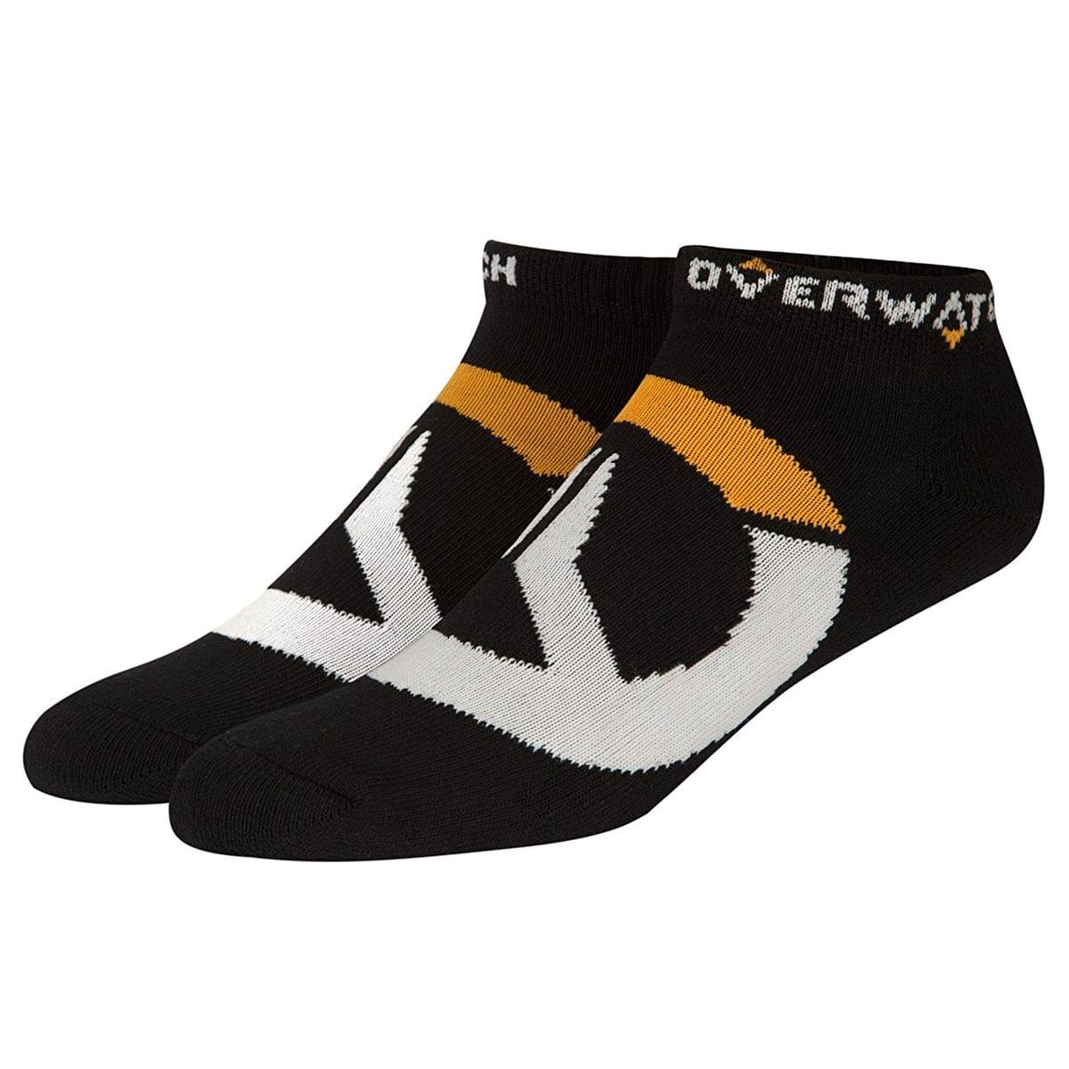 Overwatch Logo Ankle Socks 3 Pack, Black, One Size