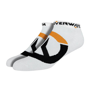 Overwatch Logo Ankle Socks 3 Pack, White, One Size