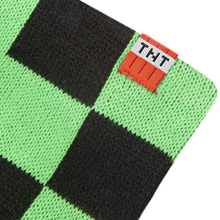 Load image into Gallery viewer, Minecraft Creeper 40 Inch Green & Black Checkered Scarf