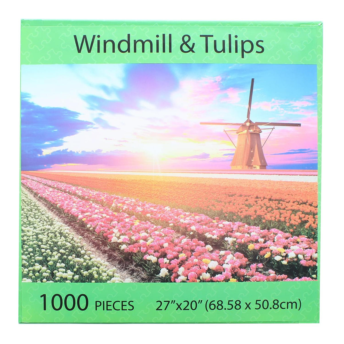 Windmill and Tulips 1000 Piece Jigsaw Puzzle
