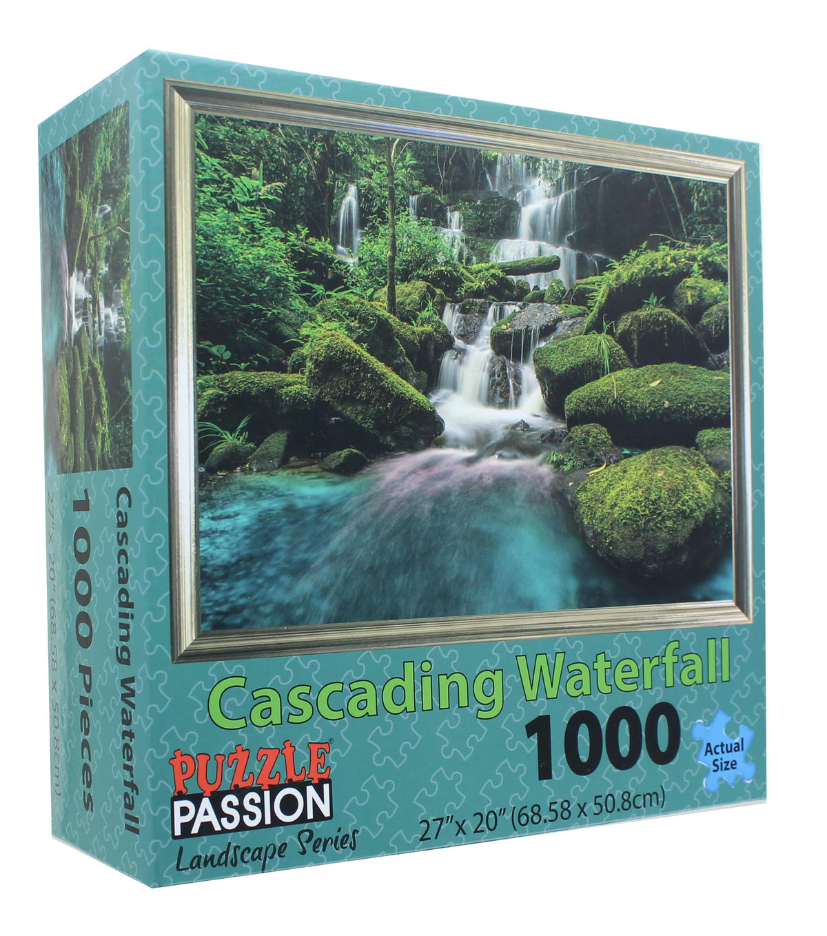 Cascading Waterfall 1000 Piece Landscape Jigsaw Puzzle