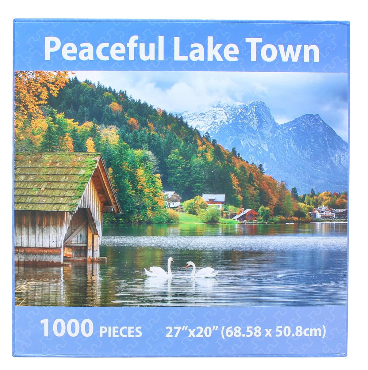 Peaceful Lake Town 1000 Piece Jigsaw Puzzle