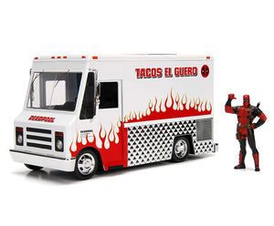 Deadpool Figure w/ 1:24 Scale Die Cast Taco Truck