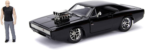 Fast & Furious Dom & Black Dodge Charger R/T 1:24 Die Cast Vehicle with Figure