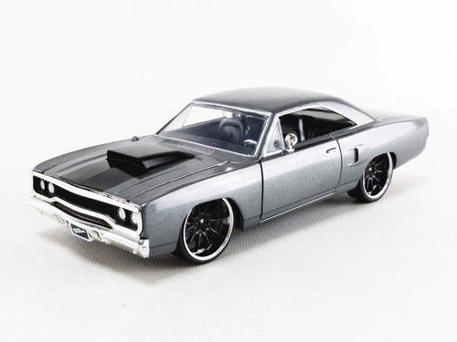 Fast & Furious Dom's Grey 1970 Plymouth Road Runner 1:24 Die Cast Vehicle
