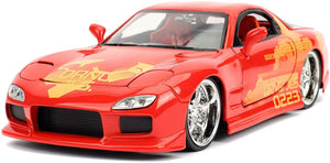 Fast & Furious Julius' Orange Mazda RX-7 1:24 Die Cast Vehicle