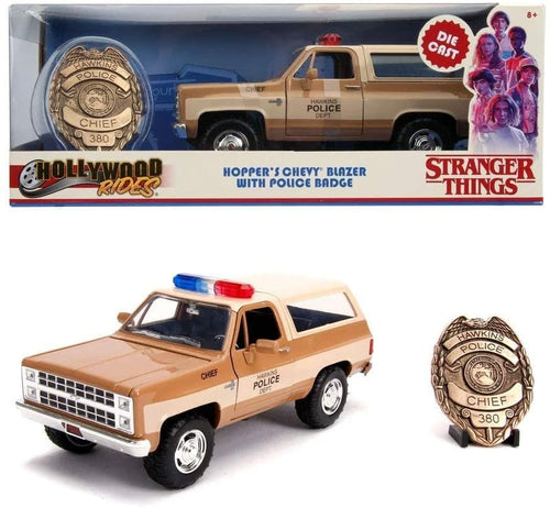 Stranger Things Hopper's 1980 Chevrolet Blazer 1:24 Die Cast Vehicle with Badge