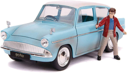 Harry Potter & 1959 Ford Anglia 1:24 Die Cast Vehicle with Figure
