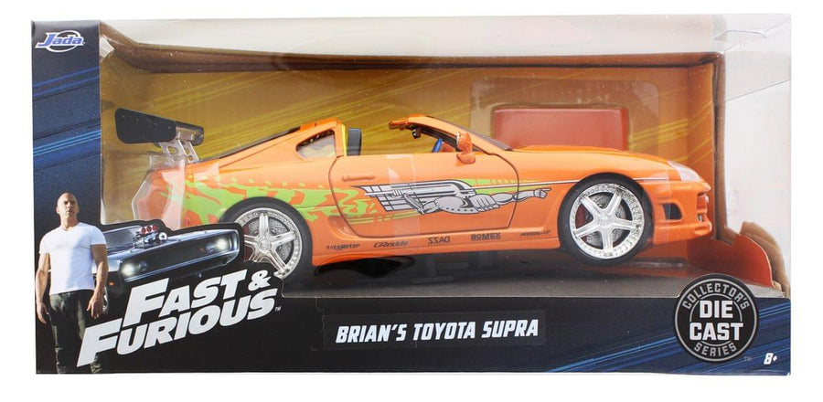 Fast & Furious 1:24 Diecast Vehicle: Brian's Toyota Supra, Orange