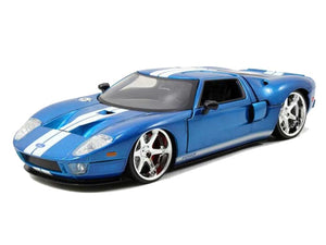 Fast & Furious 1:24 2005 Ford GT Blue Diecast Replica