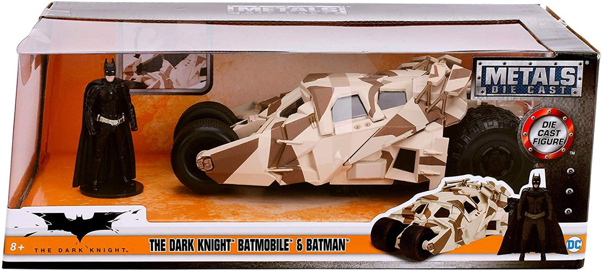 Batman & The Dark Knight Batmobile 1:24 Die Cast Vehicle with Figure