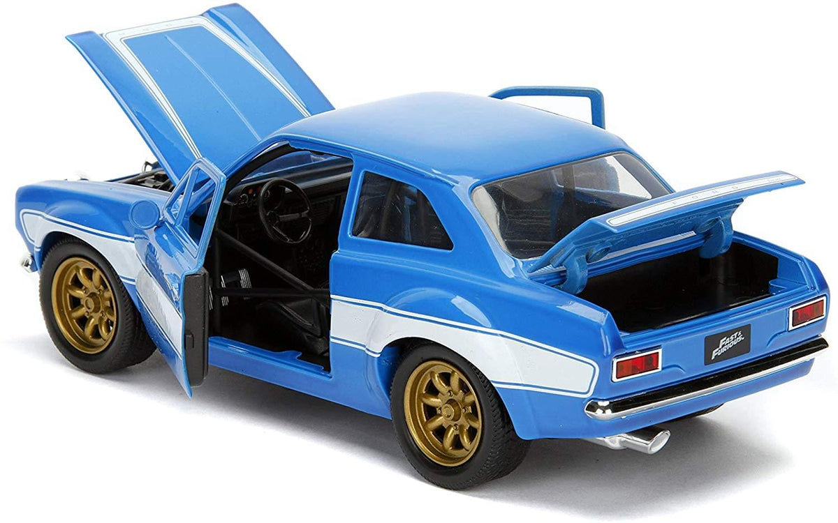 Fast & Furious Brian's Blue Ford Escort RS2000 MK1 1:24 Die Cast Vehicle