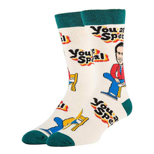 Mister Rogers Neighborhood You Are Special Men's Crew Socks | One Size