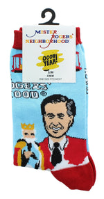 Mister Rogers Neighborhood Good Day Women's Crew Socks | One Size