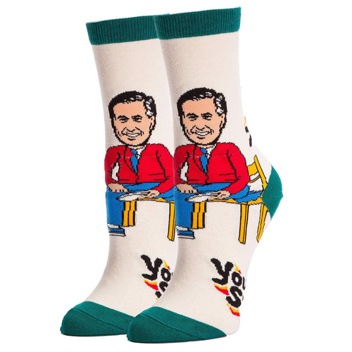 Mister Rogers Neighborhood You Are Special Women's Crew Socks | One Size