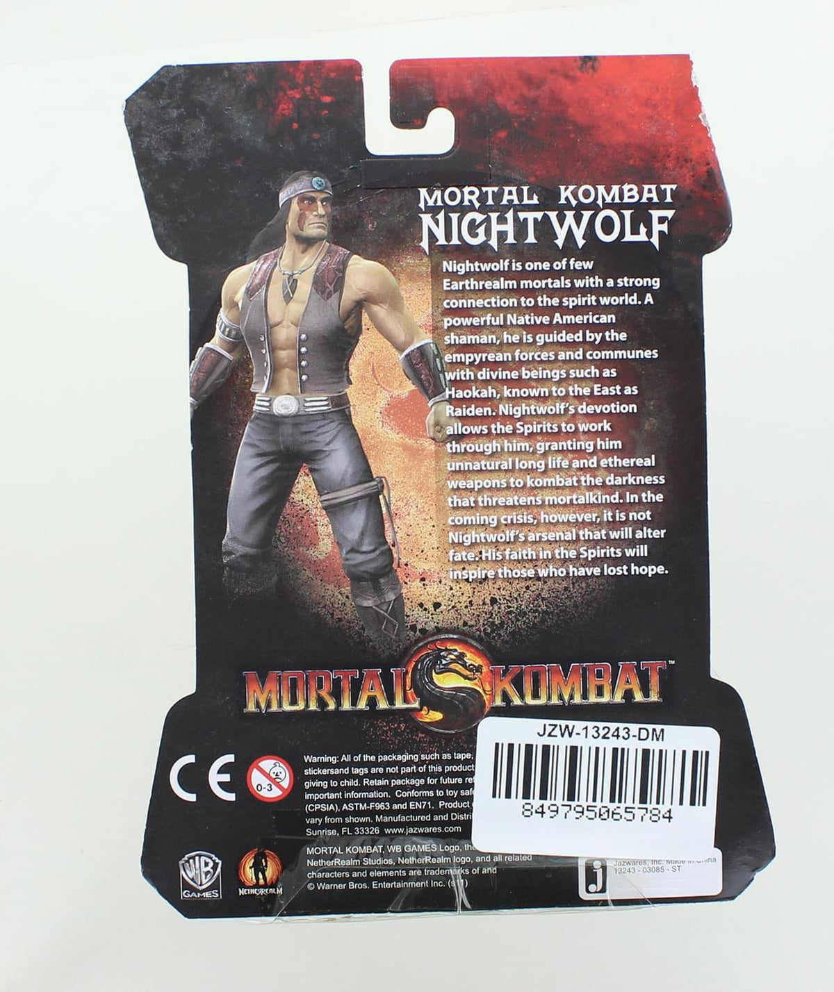 Mortal Kombat 4 Inch Nightwolf Action Figure | Damaged Package