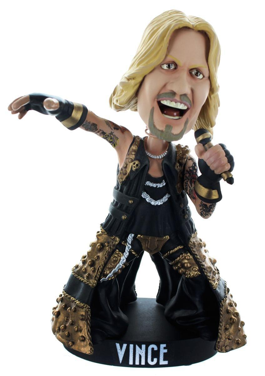 Motley Crue 8 Inch Resin Bobble Head Statue Set of 4