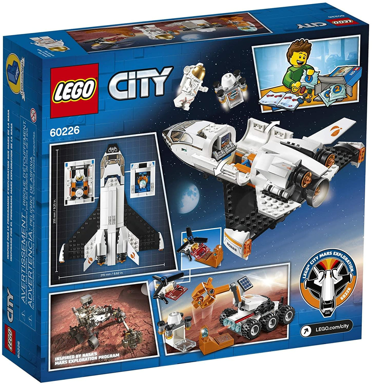 LEGO City 60226 Mars Research Shuttle 273 Piece Building Kit