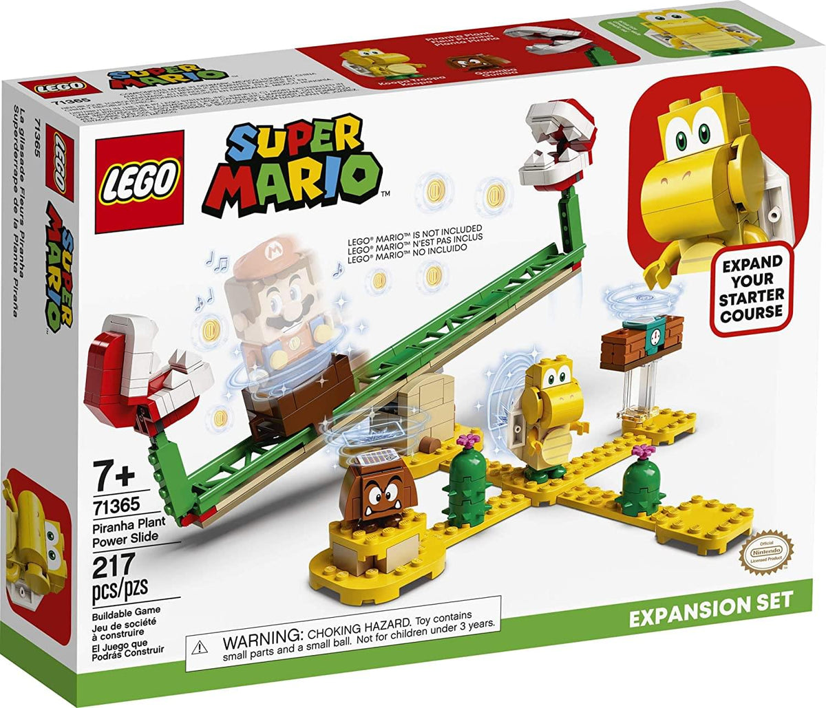 LEGO Super Mario Piranha Plant Power Slide 71365 | 217 Piece Expansion Set