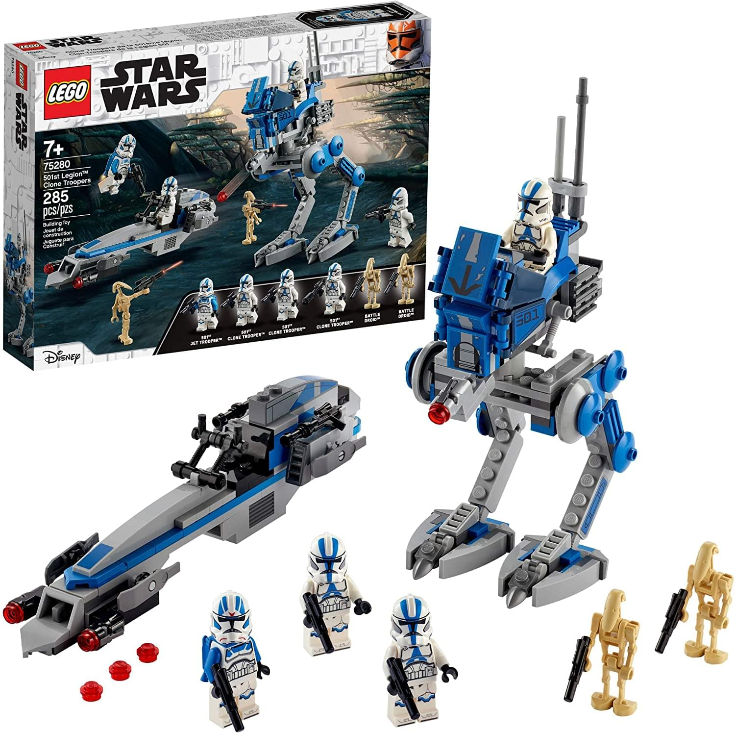 LEGO Star Wars 501st Legion Clone Troopers 75280 | 285 Piece Building Kit