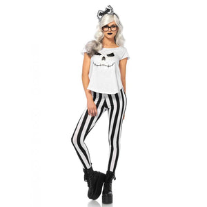 Hipster Skeleton 4 Piece Costume