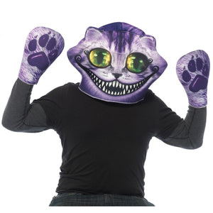 Alice in Wonderland Cheshire Cat Foam Mask and Matching Paw Gloves