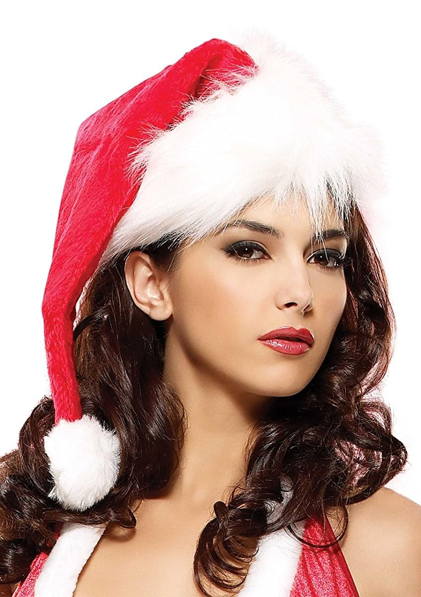 Women's Velvet Santa Hat, One Size