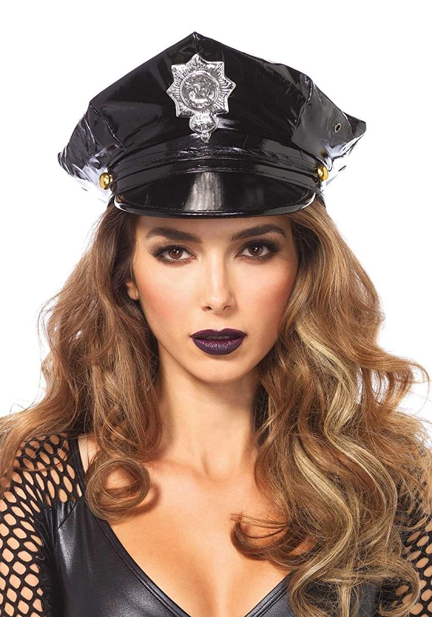 Police Hat Women's Costume Accessory, Black, One Size