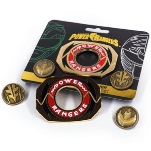 Power Rangers Legacy Morpher 3 Piece Pin Set | Green/White Edition